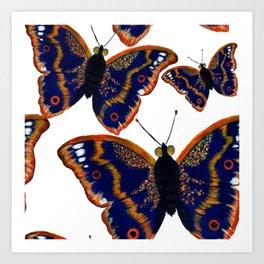 Purple Emperor Butterflies Art Print