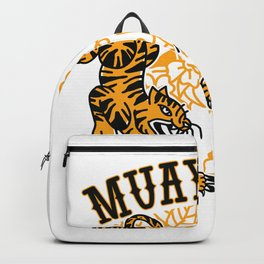 Muay Thai with tigers Backpack