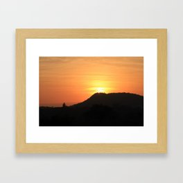 Safari Sunrise Framed Art Print