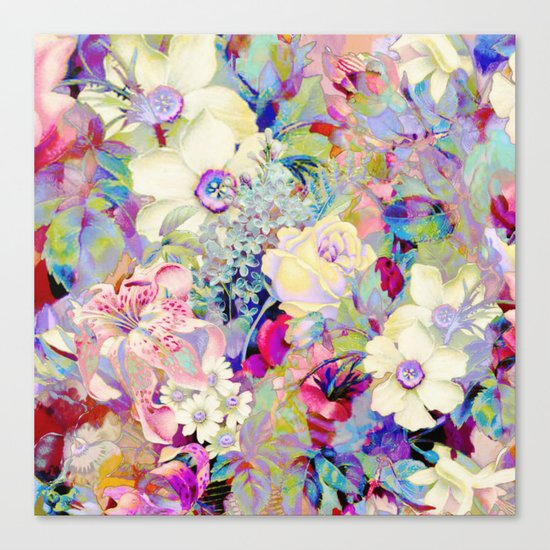 summery floral Canvas Print