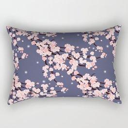 Sakura in night. Rectangular Pillow