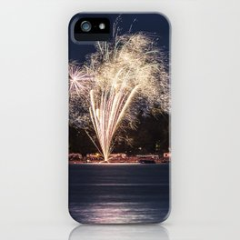 Fireworks Over Lake 12 iPhone Case