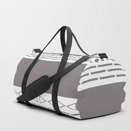 Bohemian grey&white monochromatic neutral pattern Duffle Bag