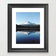 Mt. Hood at Trillium Lake Framed Art Print