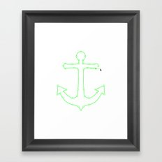Anchor Points Framed Art Print