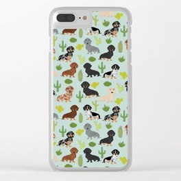 Dachshund cactus southwest dog breed gifts must have doxie dachsies Clear iPhone Case