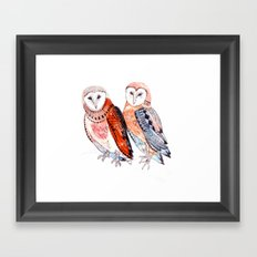 LOVE owls Framed Art Print