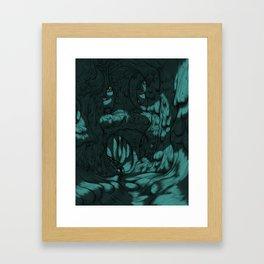 The Search for Pirx on Titan Framed Art Print