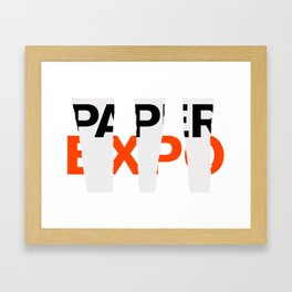 Fall Paper Expo (from Design Machine archives) Framed Art Print