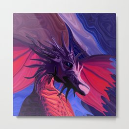 Jewel Toned Dragon of the Amethyst and Ruby Caverns Metal Print