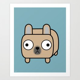 French Bulldog Loaf - Fawn Frenchie Art Print