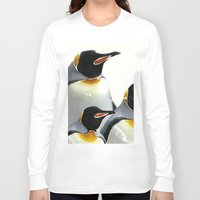 penguins Long Sleeve T-shirts featuring Penguins by Regan's World