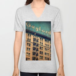 1924 Gaylord Apartments Vintage Neon Sign  Unisex V-Neck