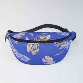 Dragonflies Blue Fanny Pack