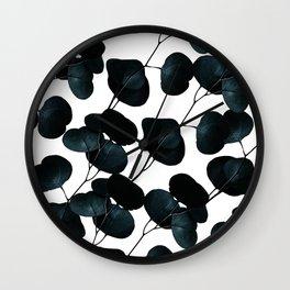 Dark Leaves #society6 #artforsale Wall Clock