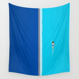 The Lone Swimmer | Aerial Wall Tapestry