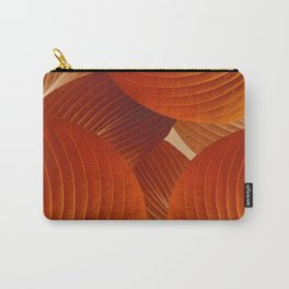 Leaves in Terracotta Color #decor #society6 #buyart Carry-All Pouch