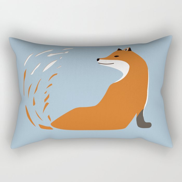 Fox Graphic Design Rectangular Pillow
