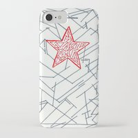 winter soldier iPhone & iPod Cases featuring Winter Soldier by Katie Kephart