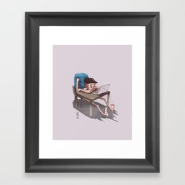 OHS Desk Framed Art Print