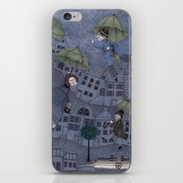 Monsieur Millet's Umbrellas iPhone Skin