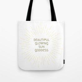 Beautiful Glowing Sun Goddess Tote Bag