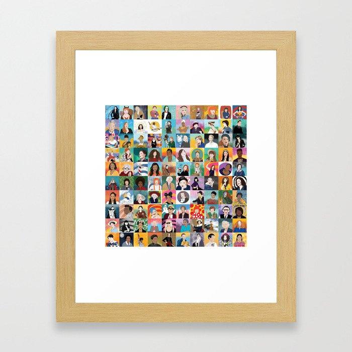 100 Boss Babes Framed Art Print