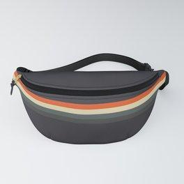 Fujitaka - Classic Dark Retro Stripes Fanny Pack