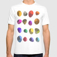 Painted Pebbles 2 White MEDIUM Mens Fitted Tee