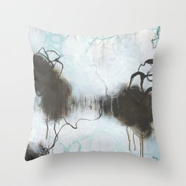 Into the Storm - Square Abstract Expressionism Throw Pillow