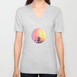 Surrounded By Love / Les Papillons Unisex V-Neck