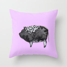 BUGSY in purple Throw Pillow