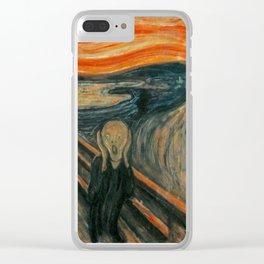 The Scream - Edvard Munch Clear iPhone Case