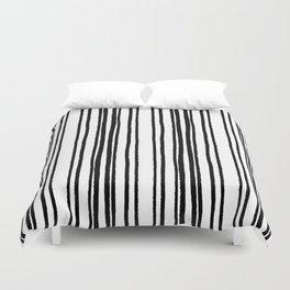 Lines and Curves Black/White Palette Duvet Cover