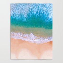 Ariel Beach Scene Poster