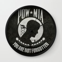 POW MIA Flag - Prisoner of War - Missing in Action Wall Clock
