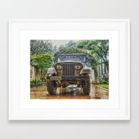 jeep Framed Art Prints featuring Jeep by Carlos Ramalhete