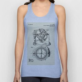 Stellar Compass and Great Circle Course Projector-1902 Unisex Tank Top