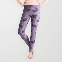 Pastel goth kawaii spiders purple Leggings