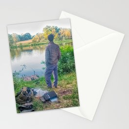 Evening Fishing at The Lake Stationery Cards