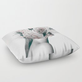 WOMAN WITH FLOWERS 11 Floor Pillow