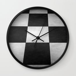 Black and White Tiles Wall Clock