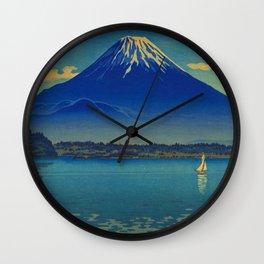 Tsuchiya Koitsu Lake Shoji Vintage Japanese Woodblock Print Wall Clock