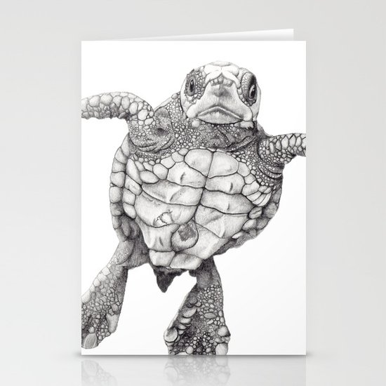 Chelonioidea (the turtle) Stationery Cards