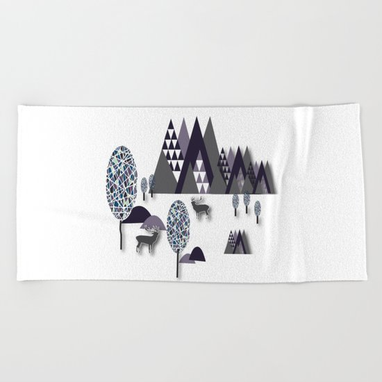 To Be Free In The Mountains Beach Towel