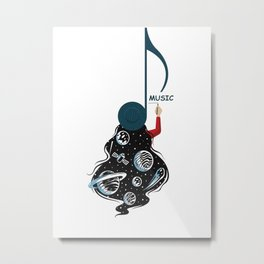 Live On Music Metal Print