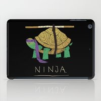 ninja turtle iPad Cases featuring ninja - purple by Louis Roskosch