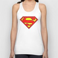 superman Tank Tops featuring Superman by Alisa Galitsyna