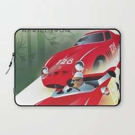 Vintage Italian Roadster Racing Targa Florio Sports Car Poster Laptop Sleeve