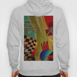 Red green transcendental abstraction Hoody